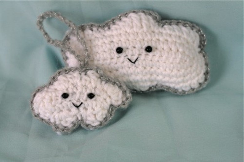 Every cloud has a silver lining  crochet PATTERN image 0