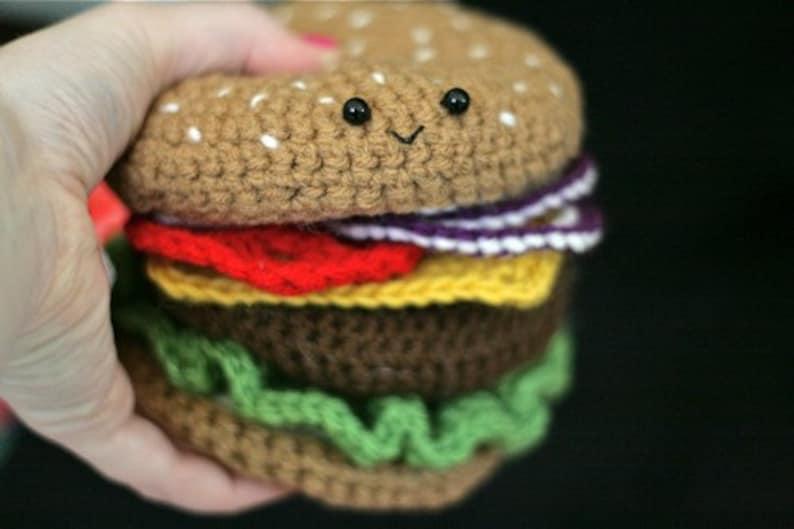Crochet Cheeseburger PATTERN  PDF image 0