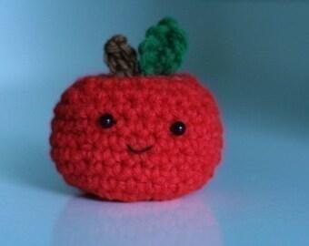 Cute Little Apple --not the thinnest laptop ever -- crochet