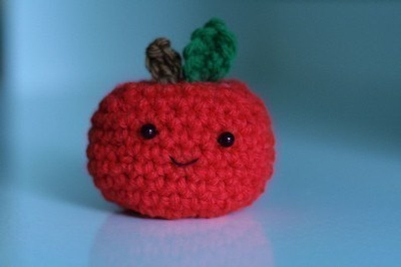 Cute Little Apple not the thinnest laptop ever  crochet image 0