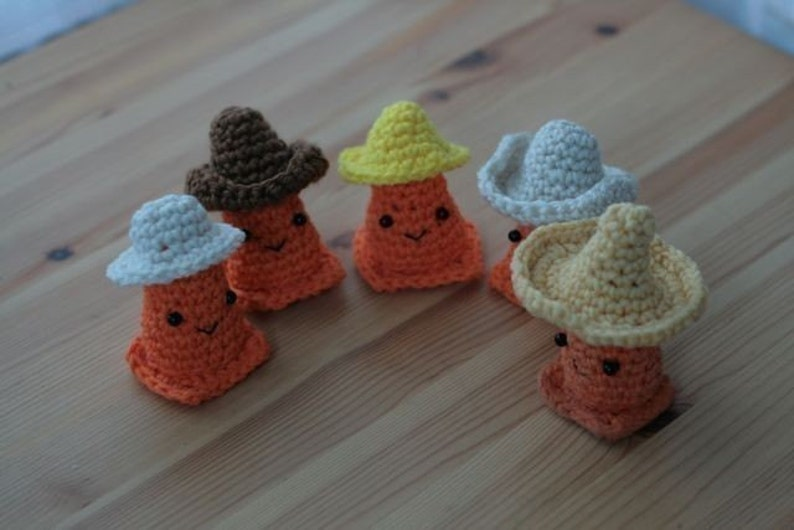 Safety Cone Caps For Sale  CROCHET PATTERN image 0