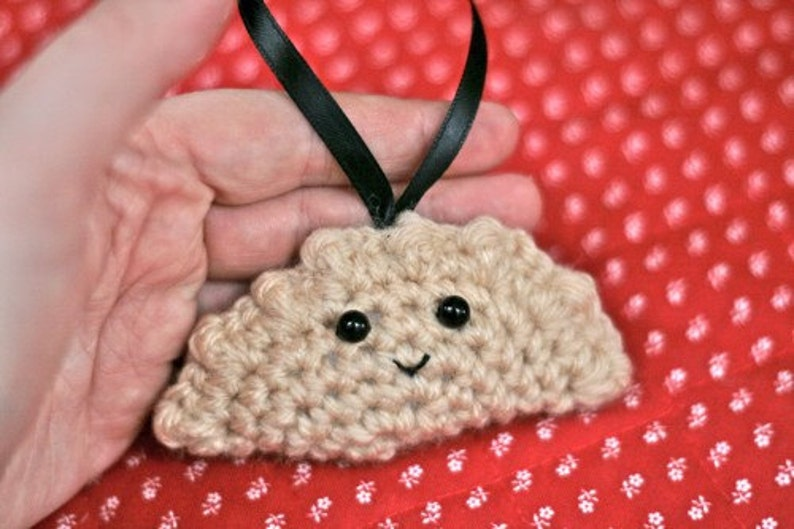 Crochet Pierogi Christmas Ornament image 0