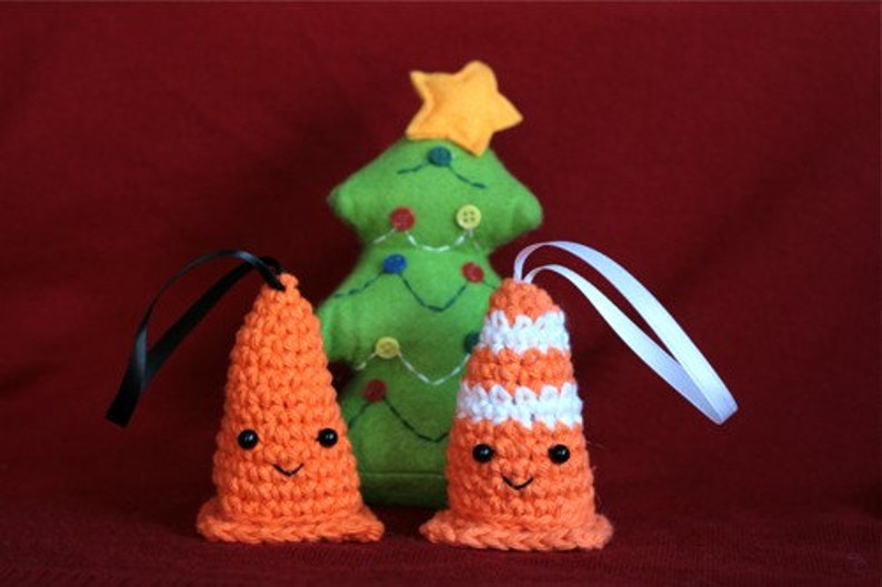 Set of Safety Cone Ornaments image 0
