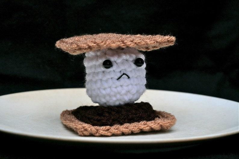 Frowny Smore  Sad Crochet Plush image 0