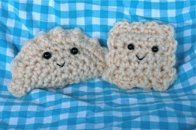 Crochet PATTERNS for Pierogi and Ravioli  Dumplings image 0