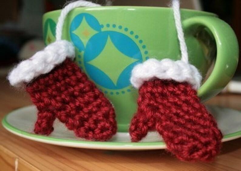 Mini Pair of Crochet Mittens Ornament image 0