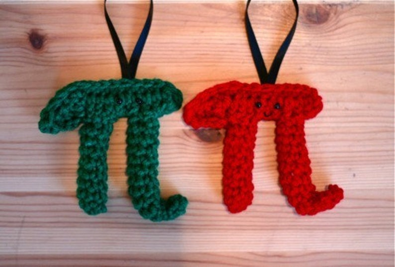 Mini Pi Ornament in Red OR Green image 0