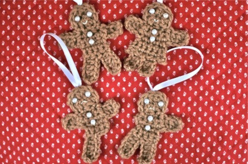Crochet PATTERNS  Gingerbread men and women some more image 0