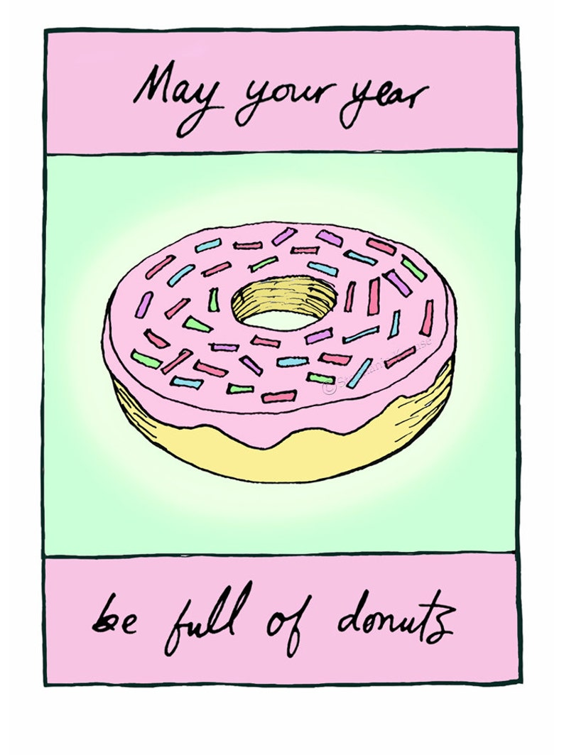 May Your Year Be Full of Donuts  greeting card blank inside image 0
