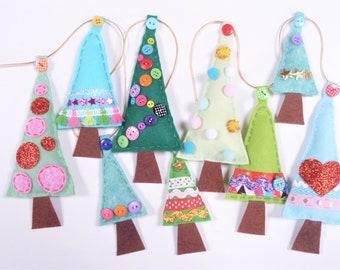 Christmas Garland Sewing Kit - Christmas Trees