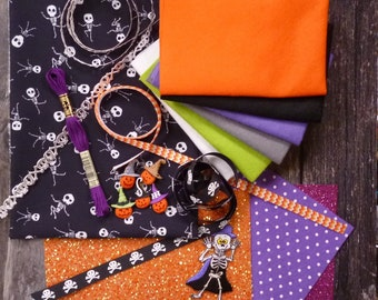 The Black Skeletons Halloween Bundle for crafters & stitchers