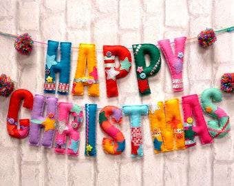Christmas Garland Sewing Kit - Happy Pom Pom Christmas