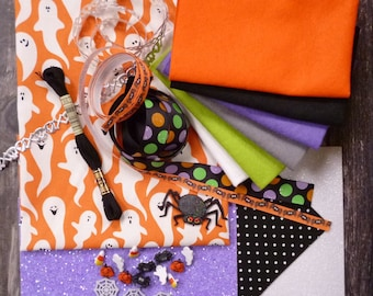 The Orange Ghosts Halloween Bundle for crafters & stitchers