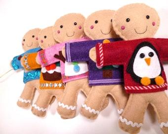 Christmas Garland Sewing Kit - Gingerbread Men in Jumpers