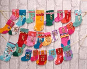 Christmas Advent Sewing Kit - Stockings Advent Calendar