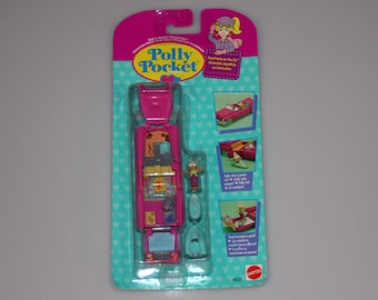 Polly Pocket Pool Party On the Go Convertible DEADSTOCK New Factory Sealed Vehicle Compact Bluebird Vintage 1995