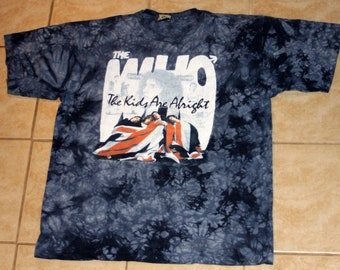 The Who The Kids Are Alright Liquid Blue Tie Dye XL Tshirt Vintage 1990s