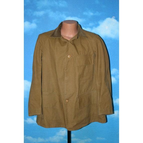 73dbae5e8359f Cotton Duck Hunting Jacket / Coat Large Duxbak Style Vintage | Etsy