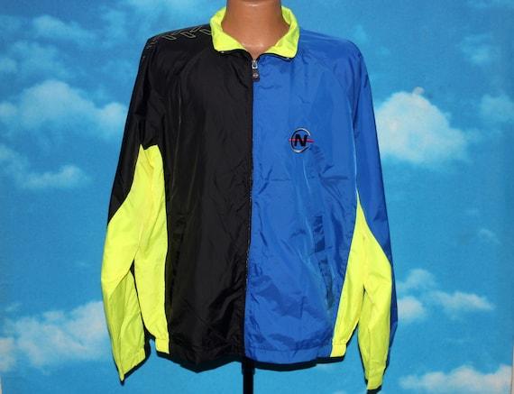 Nautica Competition Blue Black Neon Yellow Windbre