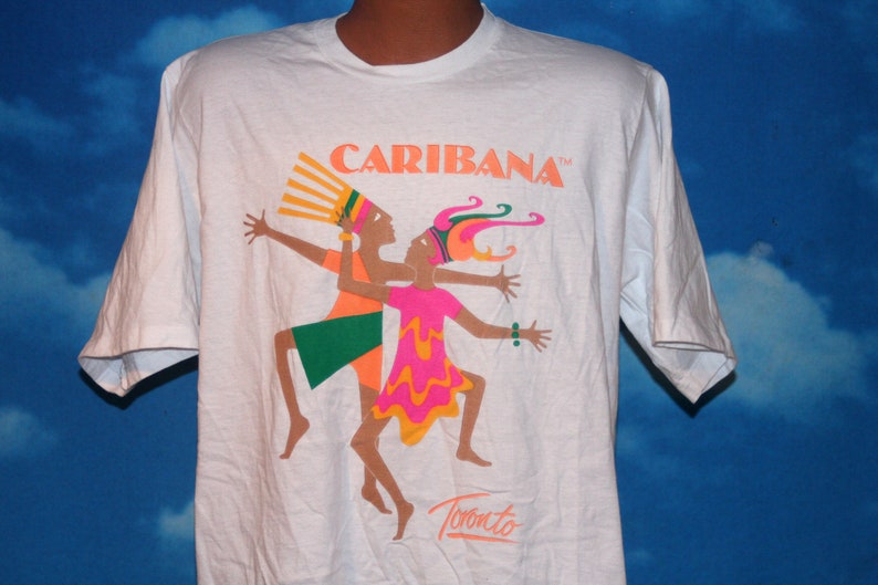 Toronto Caribana XL White Tshirt Vintage 1990s image 0
