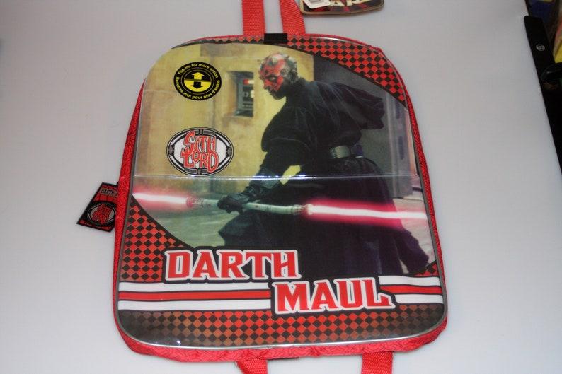 Star Wars Darth Maul / Obi Wan Kenobi DEADSTOCK Small Backpack image 0