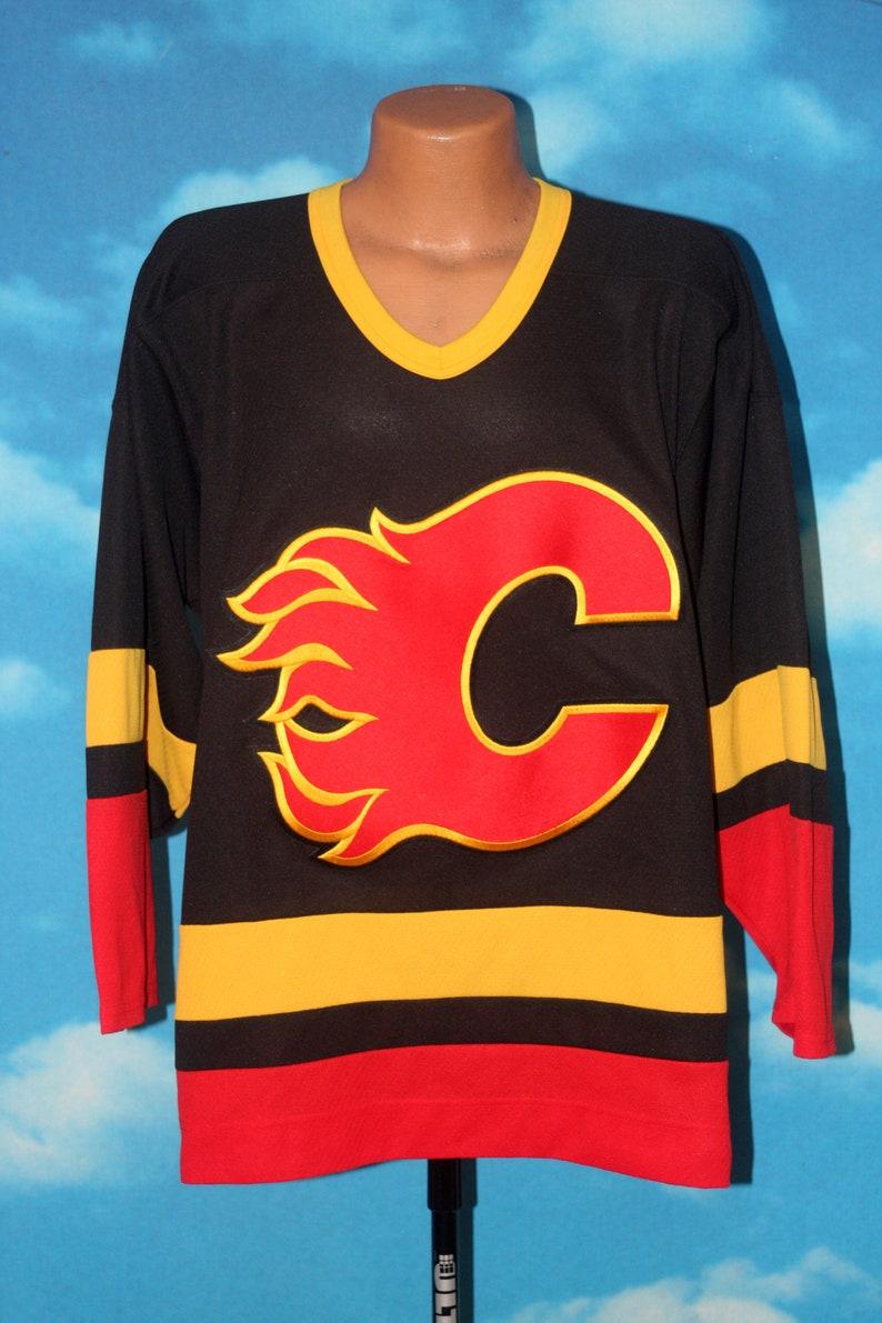 Calgary Flames Ccm Medium Rare Away Alternate Jersey Vintage Etsy