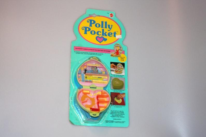 Polly Pocket Polly's Pony Club NEW Sealed on Card Bluebird image 0