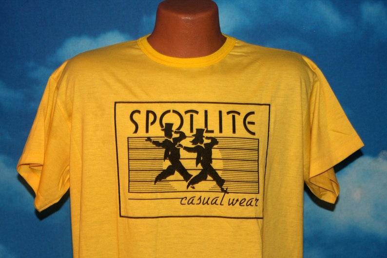 Spotlite Casual Wear Yellow Large Tshirt Vintage 1980s image 0