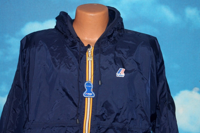 9a17e2a484fd K-Way Navy Blue Claude Full Zip DEADSTOCK New with Tags