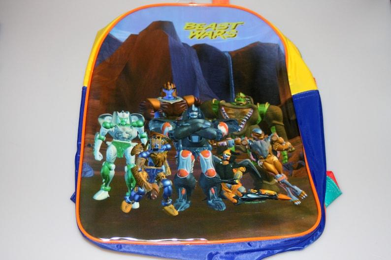 Transformers Beast Wars DEADSTOCK Small Backpack Vintage 1997 image 0
