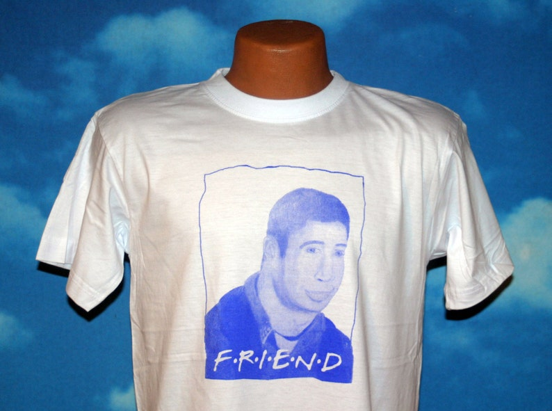 6a8059a75f8 Friend  Ross Geller T-shirt with Green ink (all sizes available)