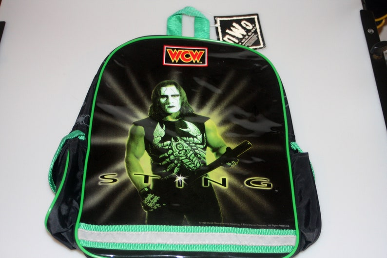 Sting WCW Wrestling NWO DEADSTOCK Small Backpack Vintage 1999 image 0