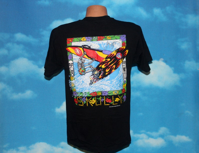 Skully Windsurfing Skullman DEADSTOCK Medium Black Tshirt image 0