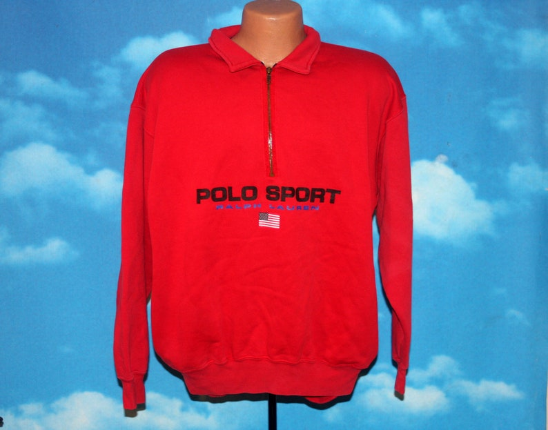 Polo Sport Ralph Lauren Spellout Flag 1/2 Zip Pullover image 0
