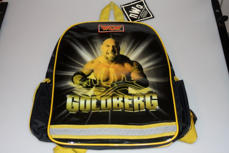 Goldberg WCW Wrestling NWO DEADSTOCK Small Backpack Vintage image 0