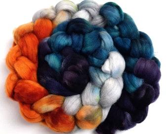 Noble Dragon - 4 oz Polwarth wool combed top, roving, spinning fiber, handspinning