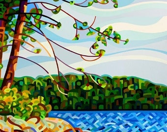 Abstract Fine Art Print - View From Mazengah