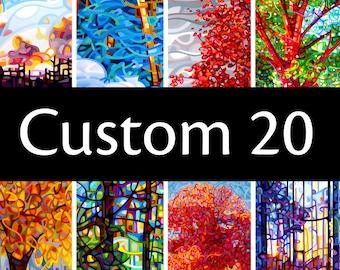 Custom20 - fine art print note card landscape flower art