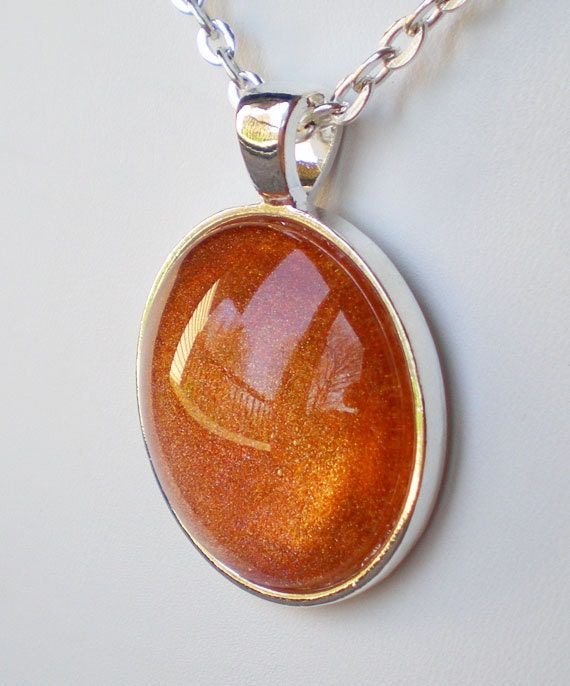 Spectrum Holographic Nail Polish: Orange Holographic Nail Polish Necklace Jewelry Spectrum