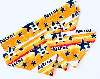 Houston Astros / Baseball / Dog Bandana / Over the Collar Cat Bandanna / Pet Bandana / Slip-on / Pet Scarf / Dog Capes