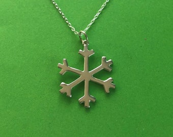 Snowflake pendant with optional sterling silver chain