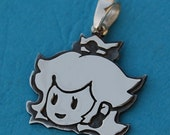 Princess peach sterling silver pendant