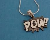 Sterling silver Pow necklace and sterling silver chain