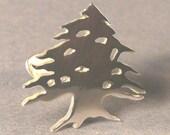 Cedar tree Cufflinks handmade Sterling Silver