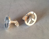 Overwatch - for grooms, groomsmen, wedding, birthday, fathers day handmade Sterling silver Cufflinks -