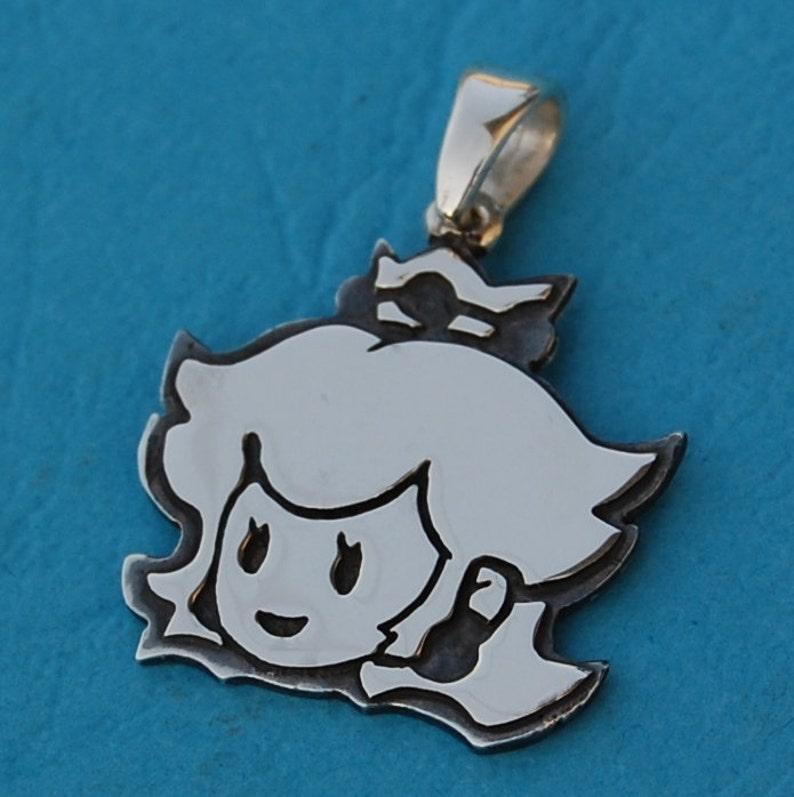 Princess peach sterling silver pendant image 0