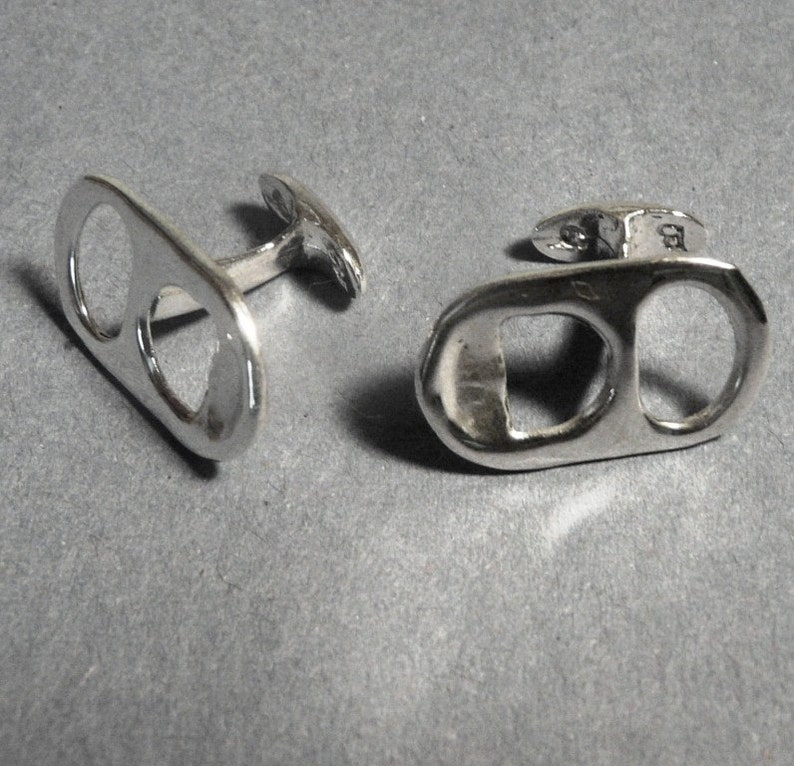 Sterling Silver Ring Pull cufflinks image 0