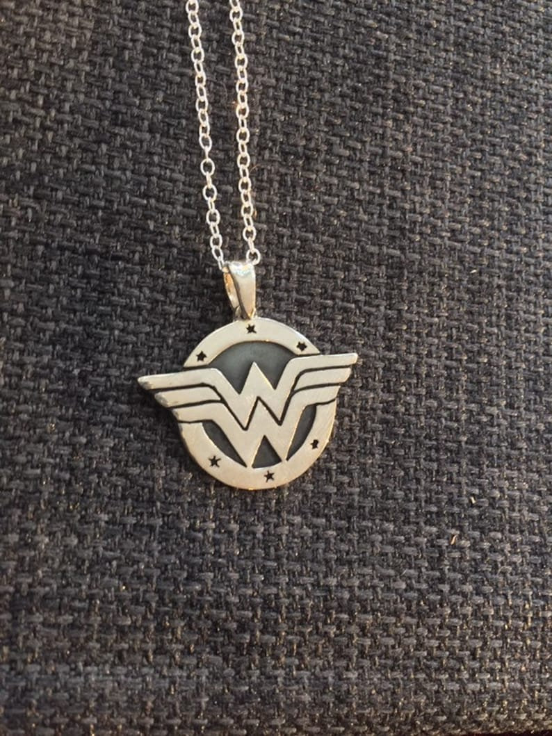 Wonder Woman sterling silver pendant image 0