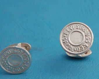 Levis Sterling Silver handmade Cufflinks