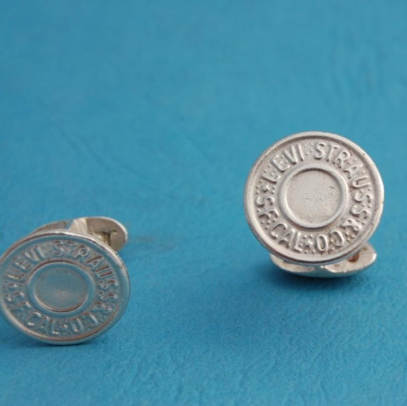 Sterling Silver Levis Cufflinks image 0